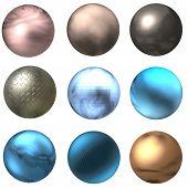 Постер, плакат: Блестящие кнопки или шарики