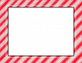 stock photo of candy cane border  - Digitally created Candy Cane design surrounds this image - JPG