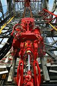 picture of oil rig  - top drive installed on rig floor of the drill ship - JPG