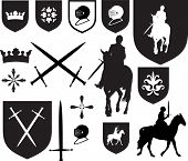 picture of crossed swords  - Black silhouette designs - JPG