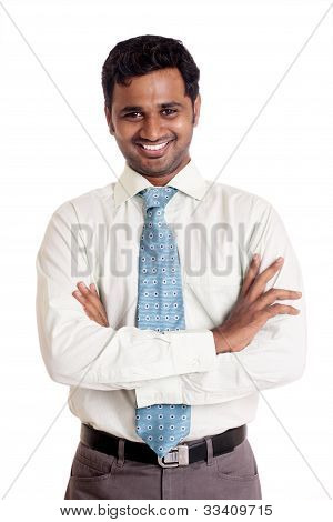 Indian business man posing.