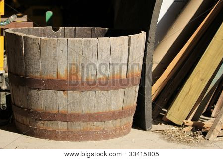 Wooden Fruit Barrel