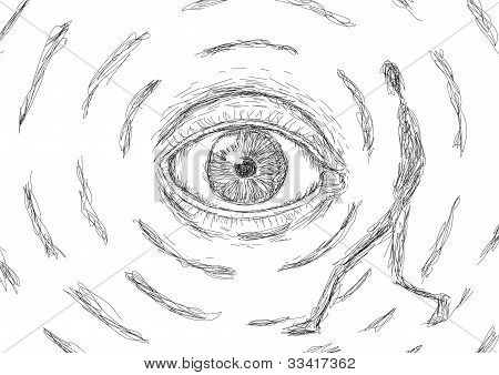 Eye That Looks At A Man