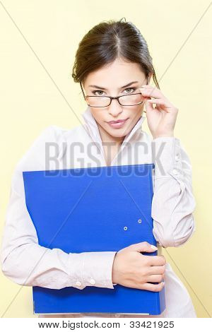 Business Woman With File