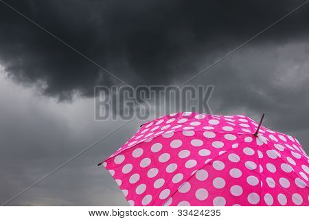 Umbrella With Dark Clouds