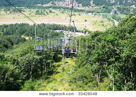 Ropeway In Jermuk