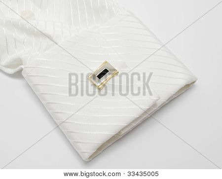 White Sleeve With Cuff Link