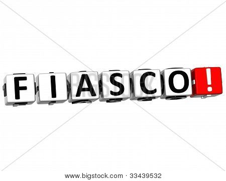 3D Fiasco Button Click Here Block Text