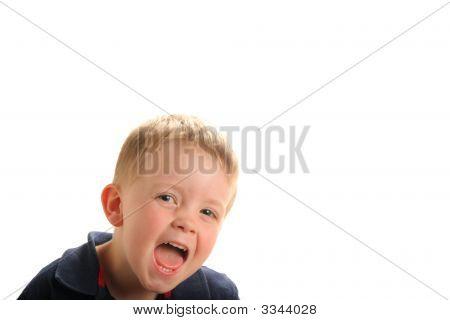 Cute Laughing Young Boy
