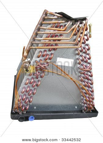 Air Conditioner Evaporator Coil Side View