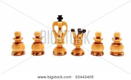 King And Queen Chess Pawn