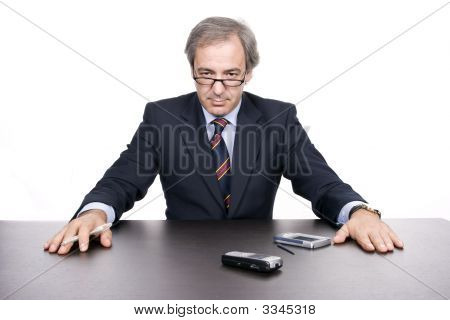Mature Businessman Posing