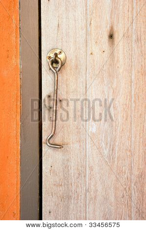 Old bold door