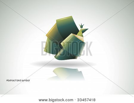 Origami bird symbol