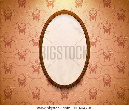 Elliptic Wooden Frame