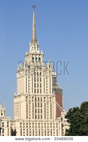 Monumental Building Of The Stalin's Style