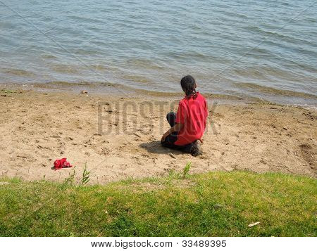 Little Boy On the Beach
