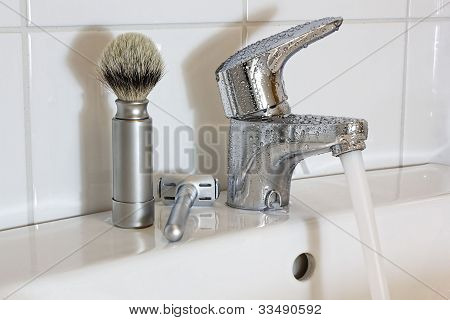 Razor and Shaving Brush