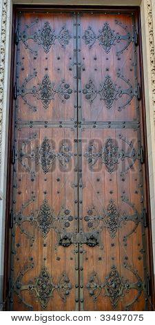 decorative wooden door