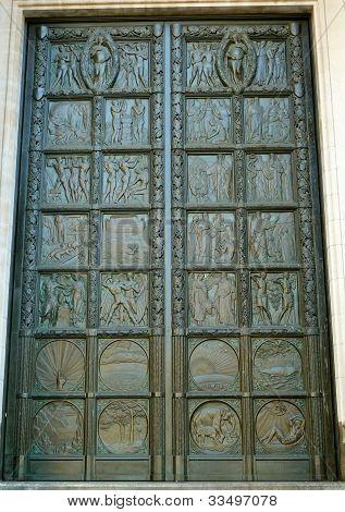 decorative metal door