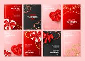 Set Of Happy Valentines Day Posters poster