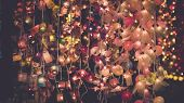 Chinese Lantern Festival Image . Colourful Paper Lantern Hanging Decorate Interior And Exterior .out poster