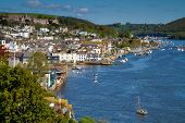 foto of dartmouth  - Dartmouth and the River Dart in Devon viewed from above the town - JPG