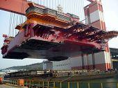 Biggest Shipyard Crane In The World Heavy Module Lift, Yantai, China. poster