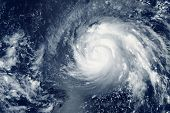 Typhoon From Space, Natural Disaster. Elements Of This Image Were Furnished By Nasa. poster
