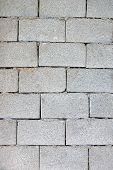 stock photo of cinder block  - Cinder block brick wall texture background pattern - JPG