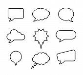 Speech Bubble Set For Banner Design. Speech Bubble Set Vector Illustration. Speech Bubble Icon Dialo poster