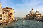 Venice, Canal Grande (grand Canal) And The Basilica Of Santa Maria Della Salute (saint Mary Of Healt poster