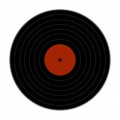 Vinyl Record Icon On White Background. Flat Style. Vinyl Record Icon For Your Web Site Design, Logo, poster