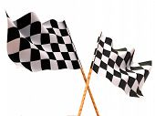 image of sidecar  - Checkered flags - JPG