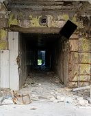 Entrance To The Ruined Building In The Daytime.entrance To The Ruined Building In The Daytime poster
