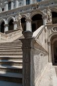 Venice, Italy:  Doges Palace Courtyard, Giants Staircase. Statues Of Mars And Neptune Guard The To poster