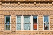 Close Up Of Historic Buildings In The Center Of  Deadwood, South Dakota, Usa (national Historical La poster