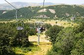 picture of ropeway  - Ropeway in mountain city Jermuk Armenia - JPG