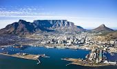 Aerial View Of Cape Town Harbour, Cbd, Table Mountain poster