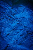 Rough Navy Blue Paper Texture. Blue Crumpled Paper Texture And Background. Close Up View Of Wrinkled poster