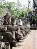stock photo of asura  - Asura of east gate at bayon angkor - JPG