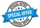 Special Offer Label. Special Offer Blue Band Sign. Special Offer poster