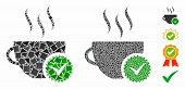 Best Coffee Mosaic Of Humpy Items In Various Sizes And Color Tinges, Based On Best Coffee Icon. Vect poster