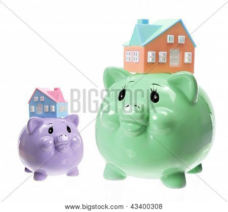 Piggy Banks And Toy Houses