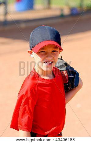Little League Baseball Player Up Close