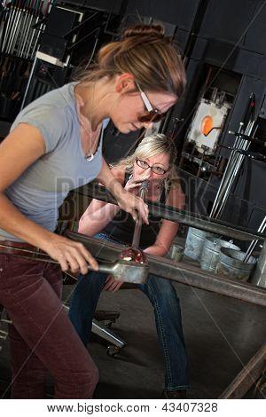 Team Of Female Glass Artists