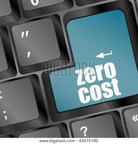 Zero Cost Keys Show Analysis And Value Of An Investment