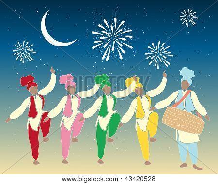 Bhangra-Tänzer