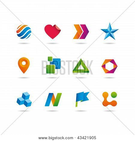 logo and icons set