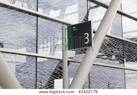 Plataforma 3 señal a la estación de tren